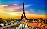 France, Paris, Eiffel Tower, Pacific World