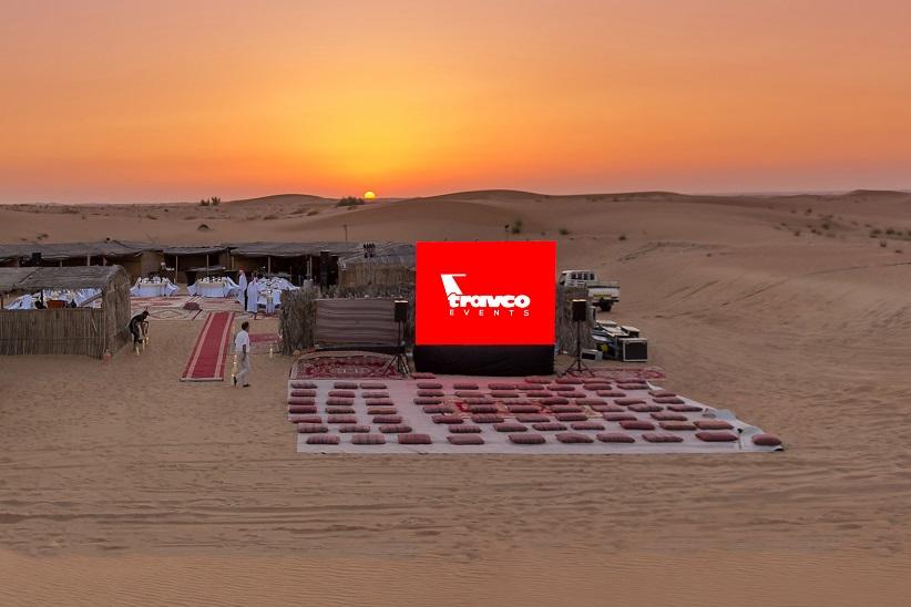 A/V Setup in Desert