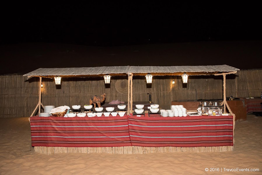 Buffet Dinner Setup in Desert Camp_TravcoEvents