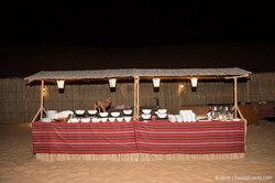 Buffet Dinner Setup in Desert Camp_TravcoEvents