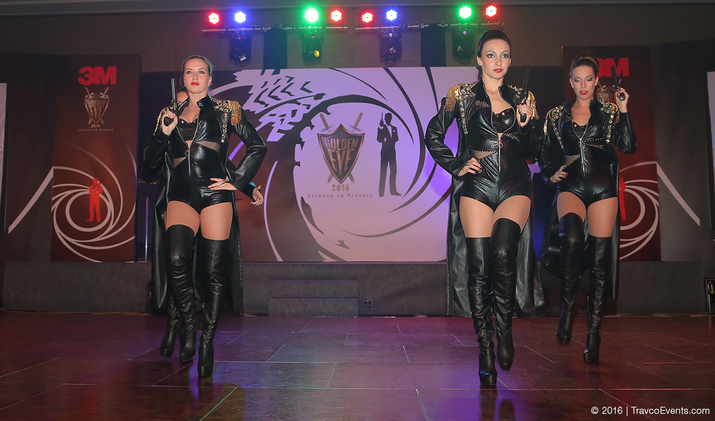 007 Bond Girls performane at Theme Dinner_TravcoEvents