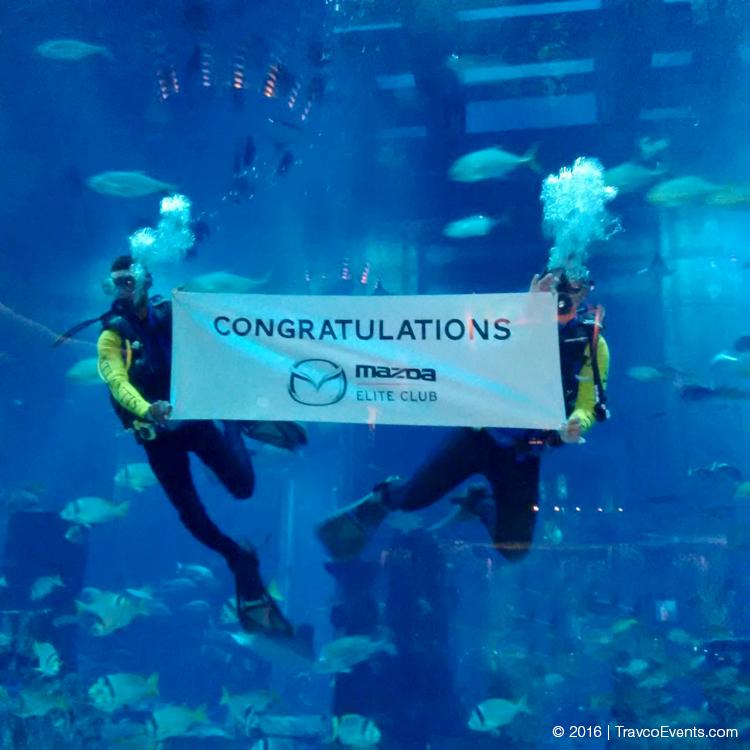 Underwater Banner Mazda_TravcoEvents