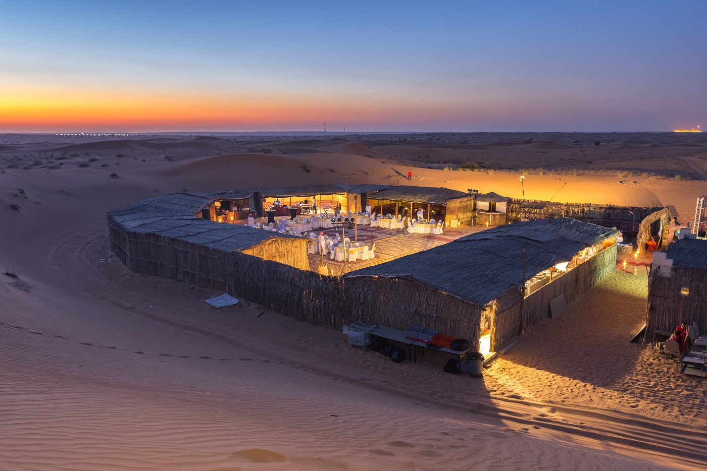 Gala Dinner Setup in Desert