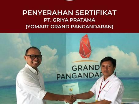 GRAND PANGANDARAN: Penyerahan Sertifikat dan Berkas Legalitas oleh Grand Pangandaran