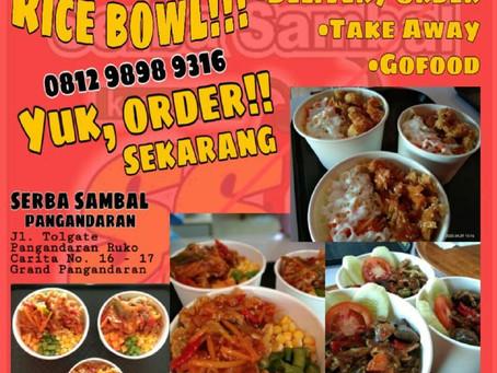 GRAND PANGANDARAN PROMOTION: Menu Baru Serba Sambal Grand Pangandaran - Rice Bowl!