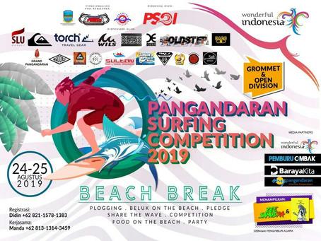 PANGANDARAN SURFING COMPETITION 2019 : EVENT BERBASIS KOMUNITAS MENUJU DESTINASI INTERNASIONAL