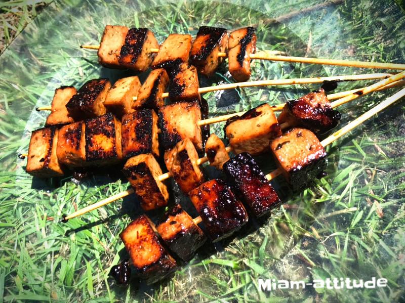 Brochettes végétariennes Yakitori