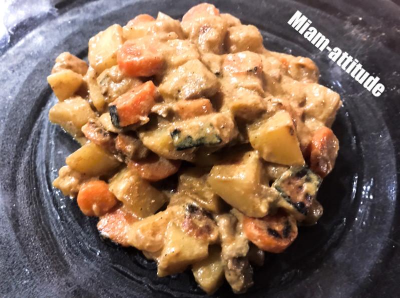 Curry de pommes de terre et de carottes
