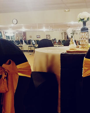 Yellow Bow Large Ballroom Decor