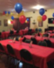 Small Ballroom Colorful Decor