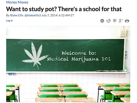 "CNN Money On A School For ""Green""... Meaning Marijuana"