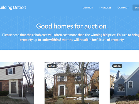 Detroit Real Estate on Sale for $1000