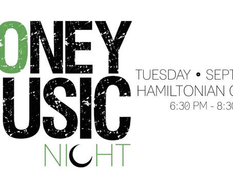 "Hamiltonian Gallery and MYDM To Host ""Money Music Night"" September 1st on U Street"