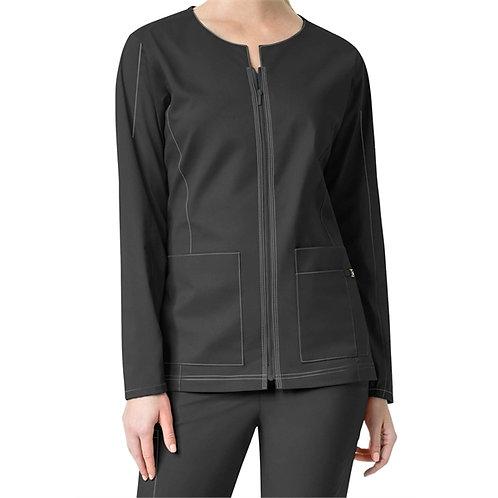 STAFF - WonderWink® Women's 7 Flex Notch Neck Zip Front Scrub Jacket