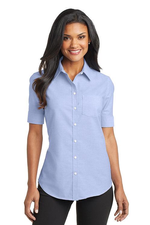 L659 Port Authority® Ladies Short Sleeve SuperPro™ Oxford Shirt