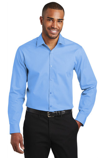 W103 Port Authority ® Slim Fit Long Sleeve Carefree Poplin Shirt