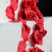 Custom Red Rose Cake
