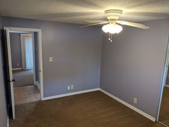Ceiling fans in the bedroom and office/den