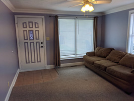 Large living room (couch not included)