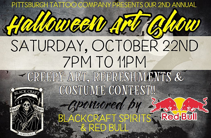 Halloween art show for Pittsburgh tattoo convention