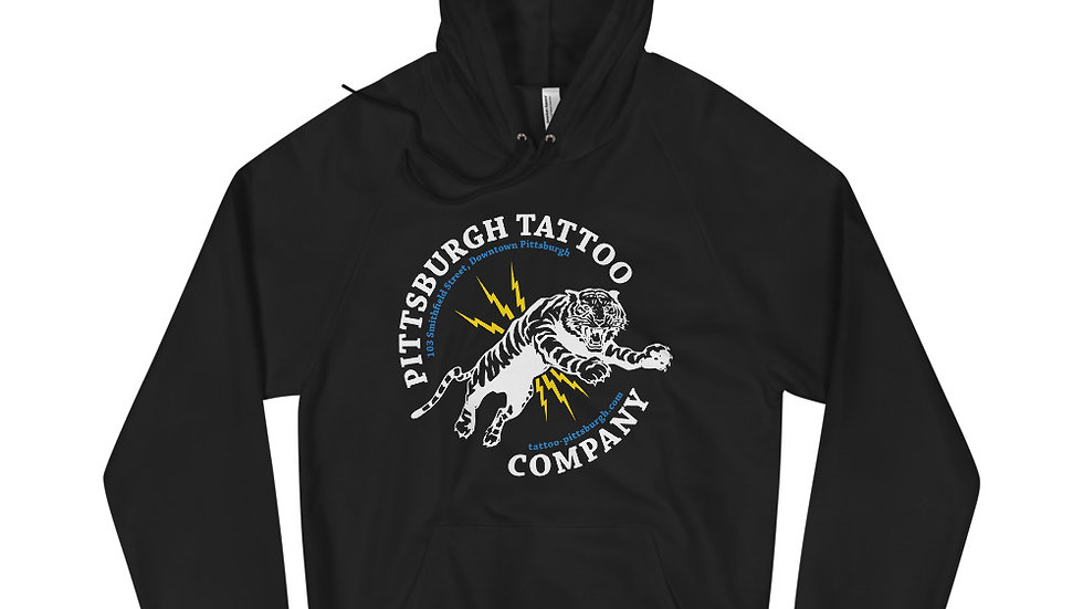 Pittsburgh Tattoo White Tiger Hoodie