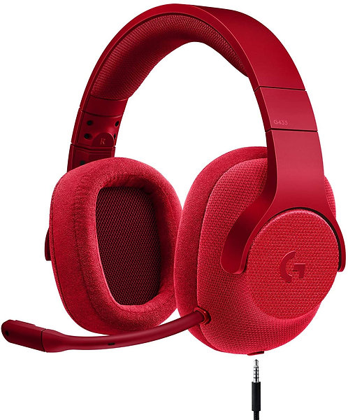 Logitech G433 7.1 SURROUND SOUND GAMING HEADSET - Red