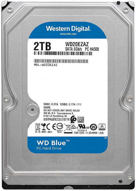 Western Digital Blue HDDs - 2TB
