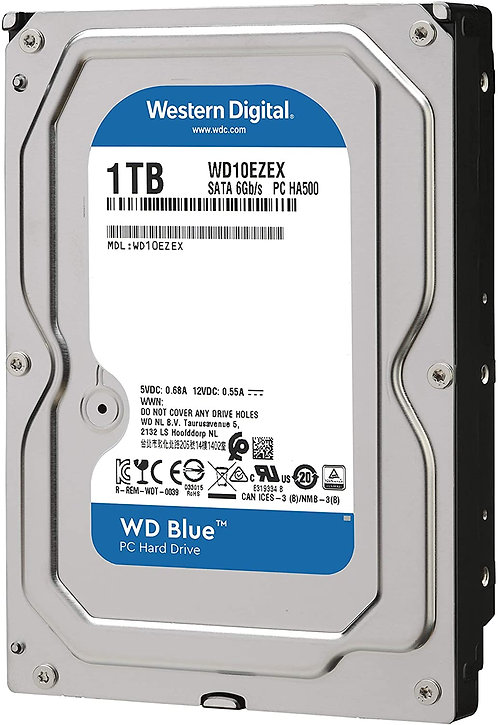 Western Digital Blue HDDs - 1TB