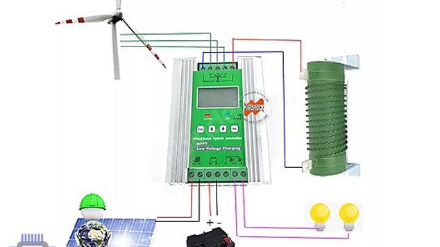 12/24 SOLAR ŞARJ Hibrit Güneş / Rüzgar Şarj Kontrol Cihazları