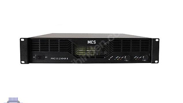 MCS 2001 POWER AMPLIFIKATÖR 2x1000 2.000 WATT