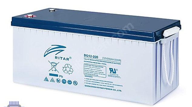 RITAR DG12-200 12V 200AH(750 CYCLE) 2020 Tarih GÜNEŞ PANELİ