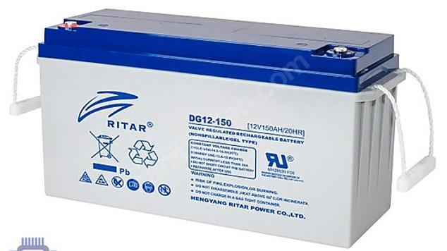 RITAR DG12-150 12V 150AH(750 CYCLE) GÜNEŞ PANELİ AKÜSÜ