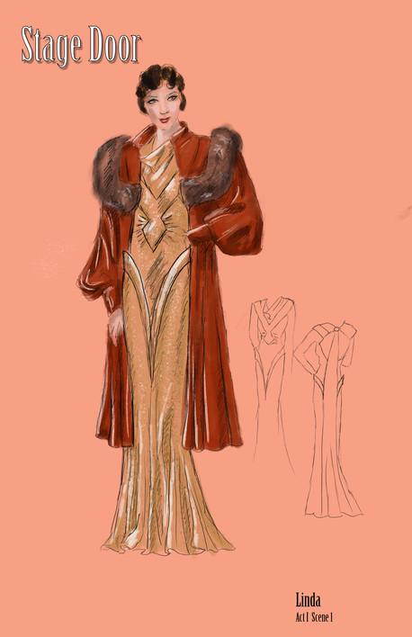 Linda Shaw's Dess and Coat