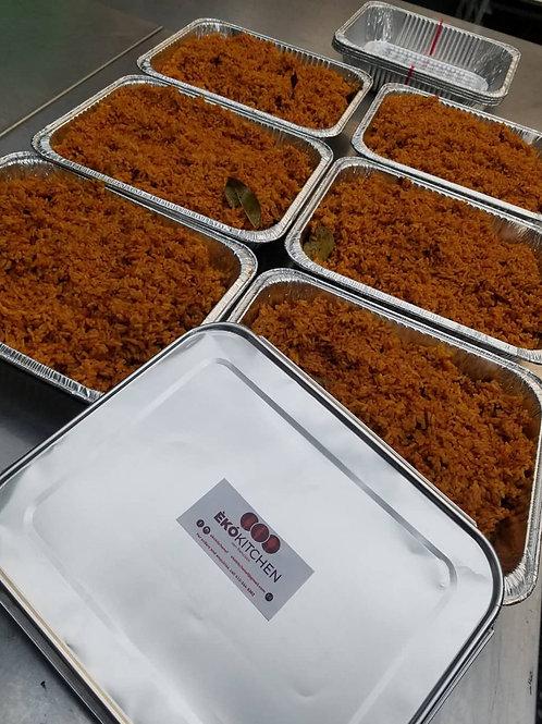 Smoky Jollof Rice Tray