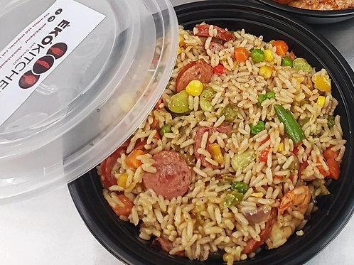 Vegan - Naija Style Spicy Fried Rice Tray