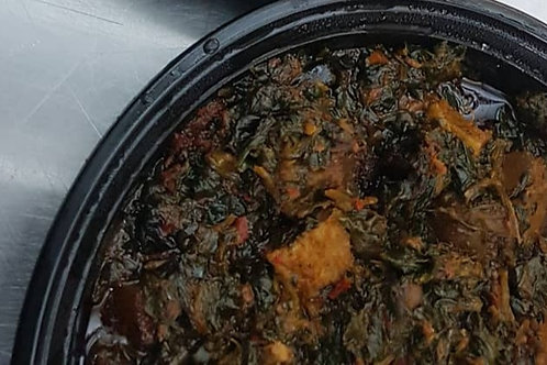 Efo Riro (Stewed Spinach) with Beef