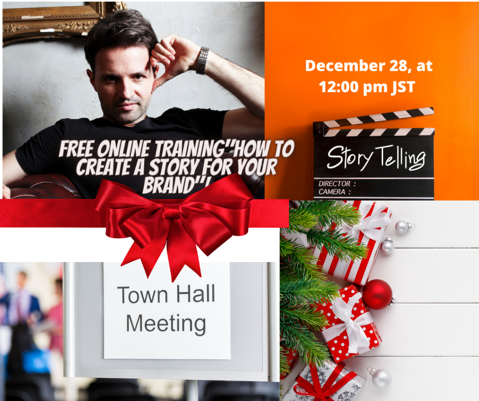 """FREE ONLINE TRAINING  """"How to Create a story for your brand"""""""