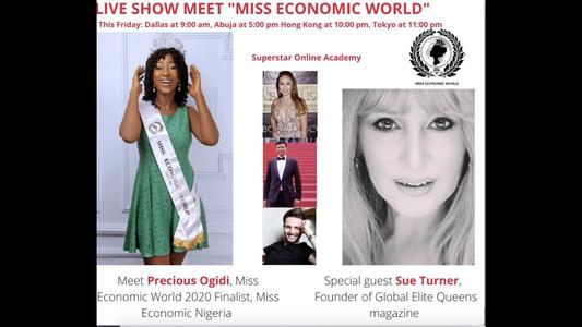 "Superstar Online Academy Live Show ""Meet Miss Economic World"" Episode 5"