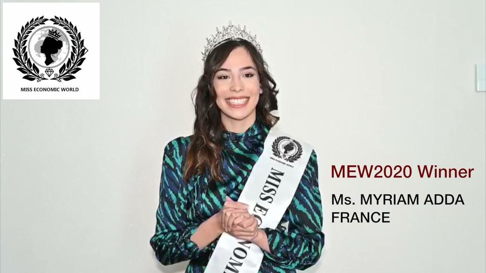 Miss Economic World 2021 Invitation