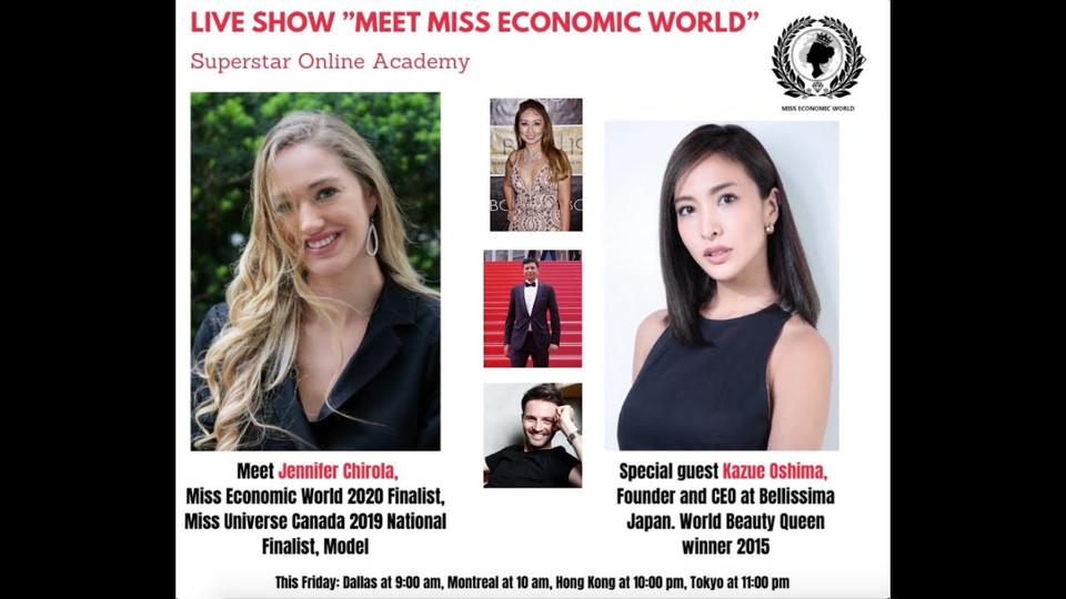 "Superstar Online Academy Live Show ""Meet Miss Economic World"" Episode 4"