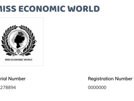 Miss Economic World trademark