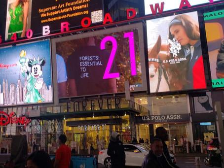 Superstar Art Foundation AD on Disney Screen, #1540 Broadway New York Times Square
