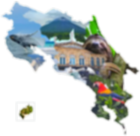 Carte des régions touristiques du Costa Rica