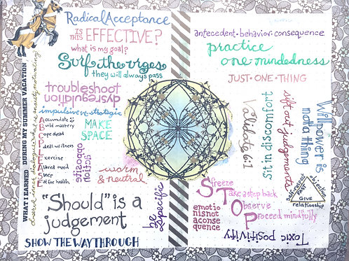 Art Journaling for DBT 8 week session