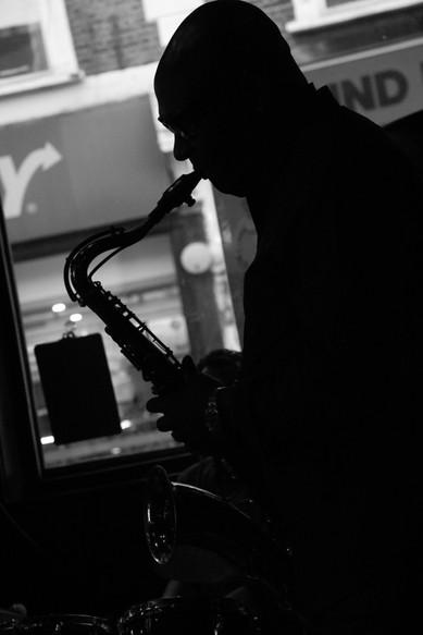 Saxophonist Andrew McKay