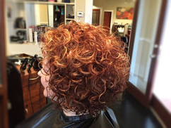 Red Curls With Hightlights
