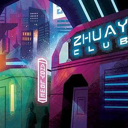 Andy Lowe Zhuay Club artwork by Gemma Gould