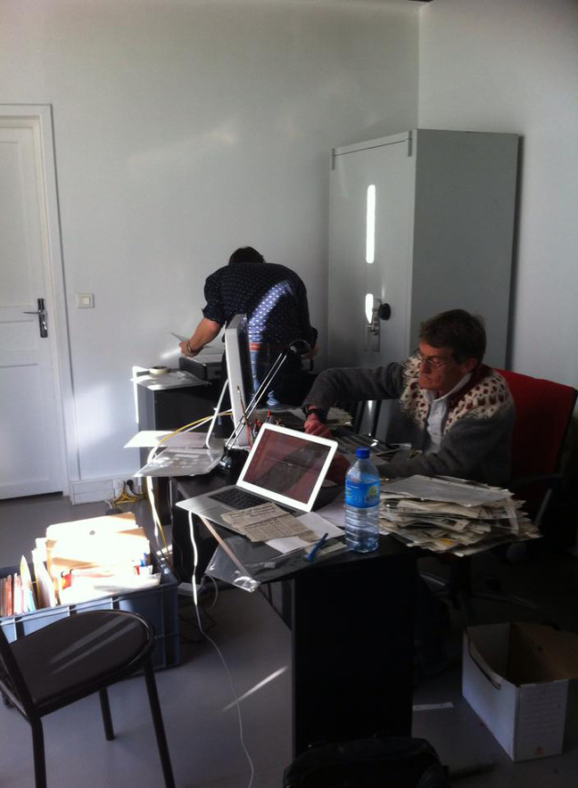 Long and intensive working days in Sipa Press Archive.