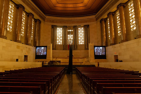 installation shot inside church