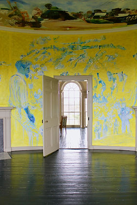 paintings on the walls of lemon hill